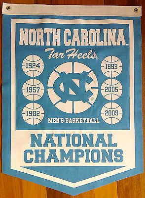 North Carolina Tar Heels  Dean Smith  Basketball National Championship Banner