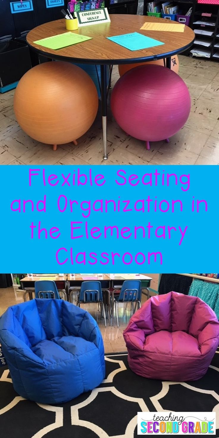 The flexible seating and organization options at this blog post are sure to help out every elementary teacher. You'll get ideas, options, and inspiration to talking alternative seating in the Kindergarten, 1st, 2nd, 3rd, 4th, 5th, or 6th grade classroom.
