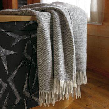 Kattefot Fringed Wool Blanket by Røros Tweed $325 from @Lufina Wovens
