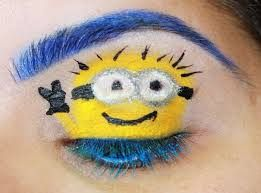 Beautiful minions makeup for parties