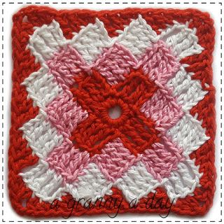 29 | A Granny A Day crochet challenge. Every day a free granny square pattern. By Handwerkjuffie