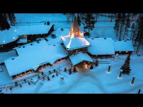 Weihnachtsmanndorf in Lappland aus der Luft