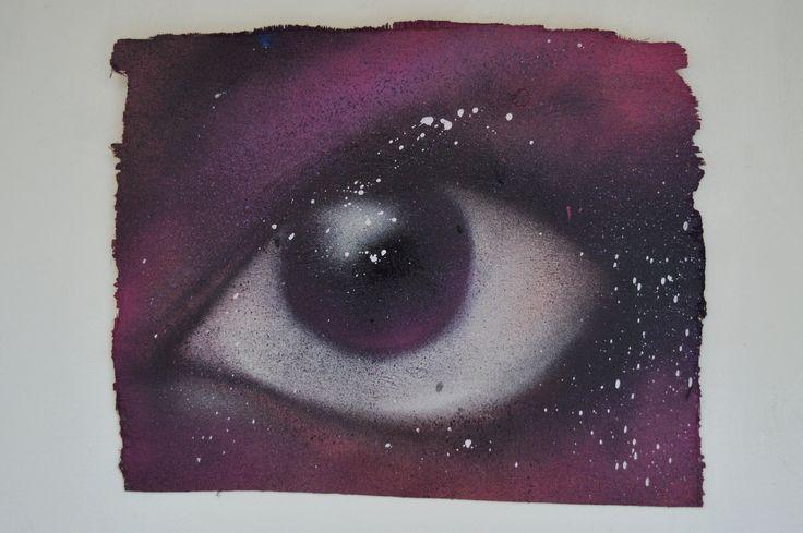 #OJOIZQUIERDOTRIPTICO Pintura en aerosol sobre madera. #Pintoporpintura2014