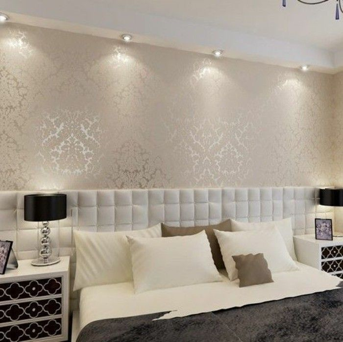 tendance papier peint pour chambre adulte tendance papier. Black Bedroom Furniture Sets. Home Design Ideas