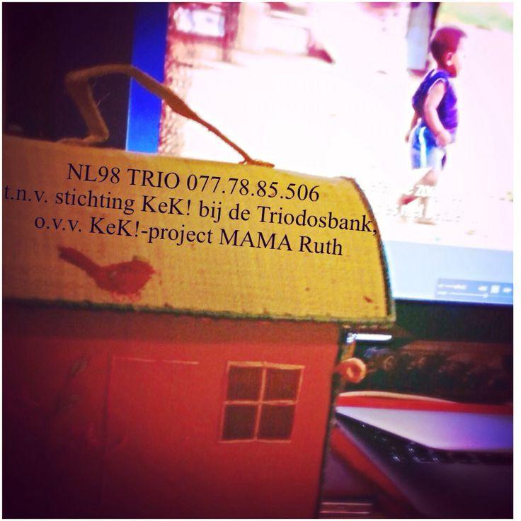 Lieve volgers! Heel Hartelijk #dank aan allen die de #kinderen van MAMA Ruth een #financiele #gift hebben #gegeven ❤️ en voor diegenen die nog #willen #helpen ... Je kunt nog een #bijdrage doen tot en met dit #weekend / #eind #november 2015! Hierbij nog een keer de #gegevens en ... elke €5,- #telt  NL98 TRIO 077.78.85.506 t.n.v. stichting KeK! bij de Triodosbank, o.v.v. KeK!-project MAMA Ruth