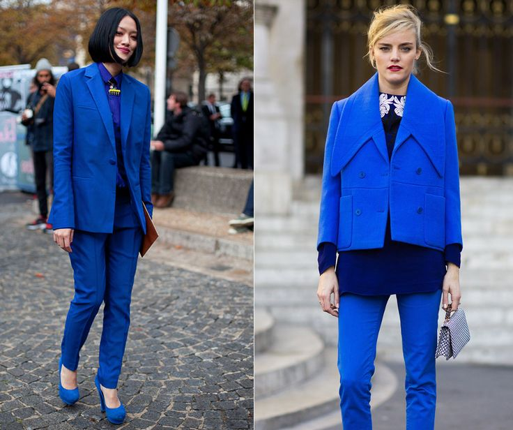 """Feeling blue? Don't worry.. You don't need to be """"lady in red"""" if you wish to be in the center of attention. Practically any one color outfit is eye catching.. More unexpected the color is the better.. So.. are you feeling blue today? #outfit #fashion #blue"""