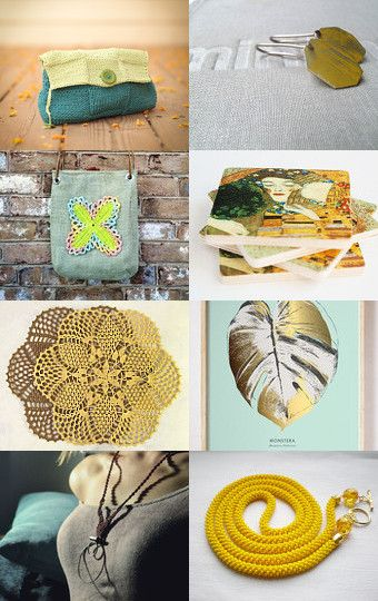 174 - Mint Yellow Gift Ideas by Ilona on Etsy--Pinned+with+TreasuryPin.com