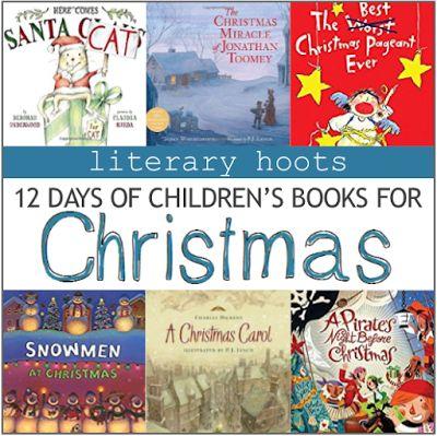 Literary Hoots: The 12 Days of Children's Christmas Books #MedinaLibrary #LiteraryHoots #HolidayBooks