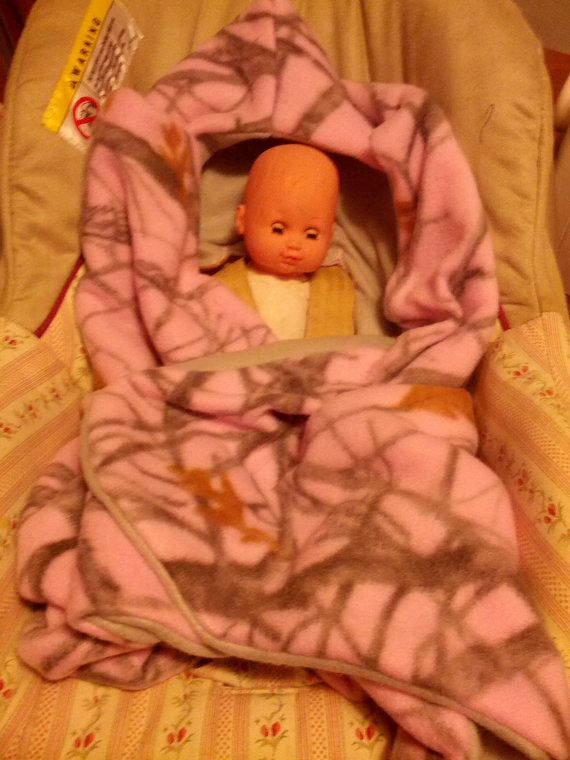Pink Camo Car Seat Blanket by CreativeBabyGear on Etsy, $35.00