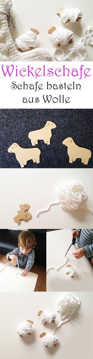 Wickelschafe - Schafe aus Wolle basteln