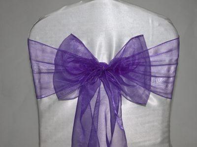 $0.40 organza sash rental, chaircover NY - Wedding Linen Rental, chair cover rental, Banquet Chair Cover rental, Folding Chair Cover Rental,...