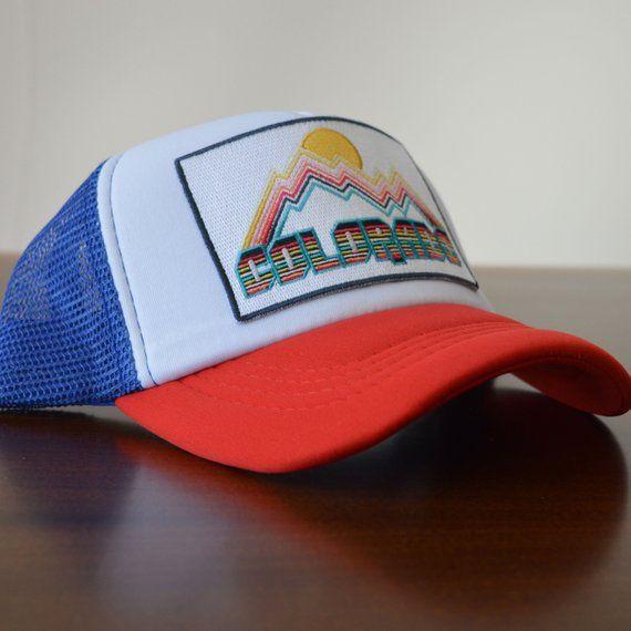 e18049088 Colorado Baby Trucker Hat - Retro Design Colorado Snapback Infant ...