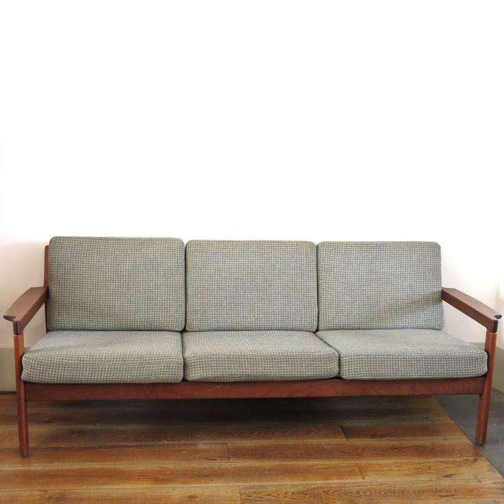 banquette scandinave en teck ref160503 - Daybed Sofa