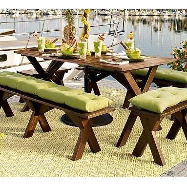Rent Or Make Cushions For Picnic Table Chairs?