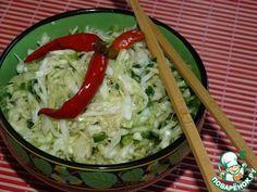 Острый салат из свежей капусты - кулинарный рецепт