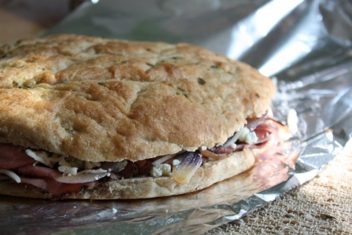 Flank Steak Panini With Goat Cheese And Caramelized Onions Recipes ...
