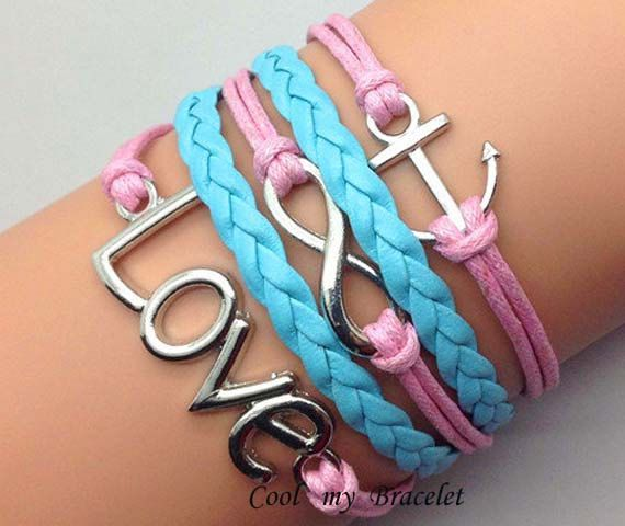 Personalization handwoven infinite ship anchor by Coolmybracelet, $5.99