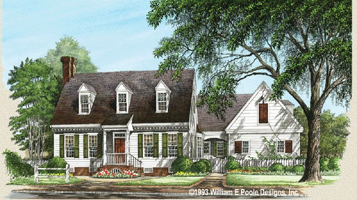 Williamsburg cottage think this style without the for Williamsburg home plans