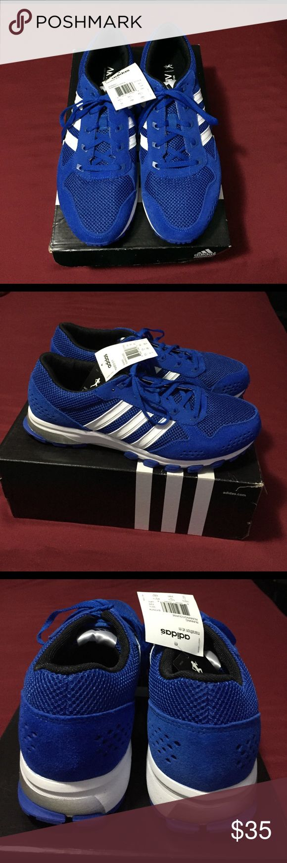 New Authentic Adidas men's shoes Marathon XT . Nice mesh like and blue cut out suede accent Adidas Shoes Sneakers