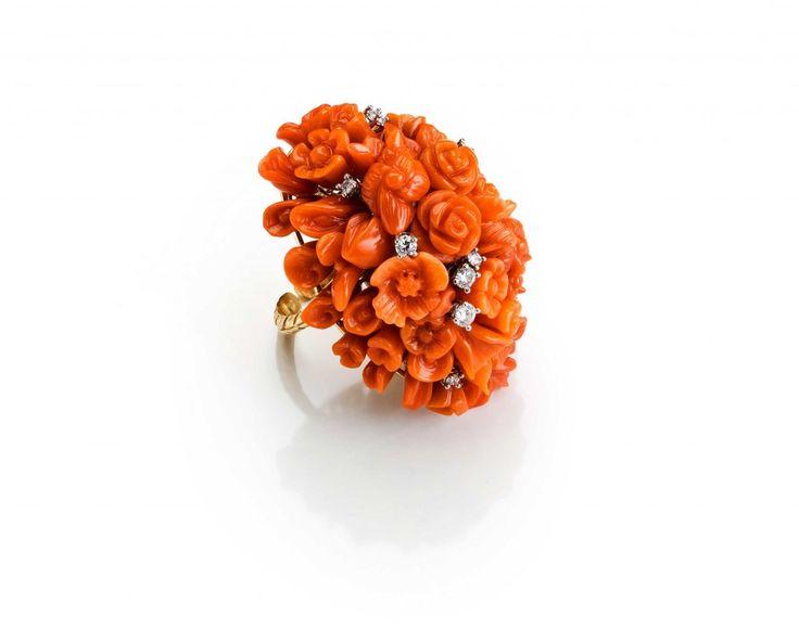 Anello Costellazioni, Creazioni Oro di Sciacca, gioielli in corallo