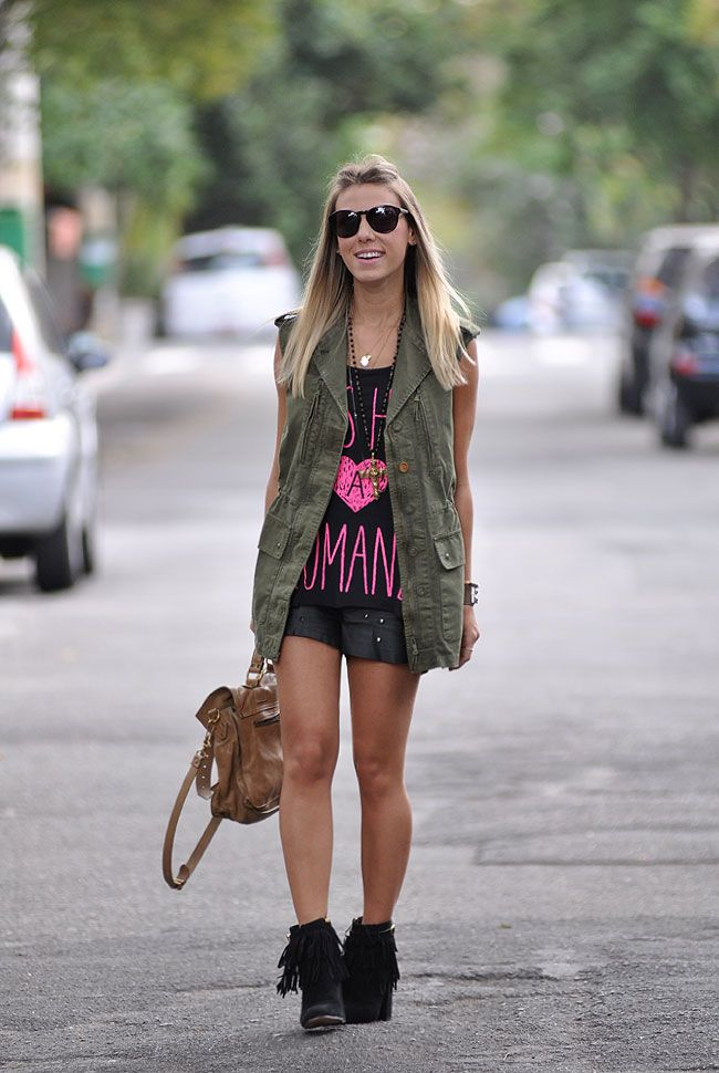 glam4you - nati vozza - dark - parka - militar - short - couro - spikes - neon