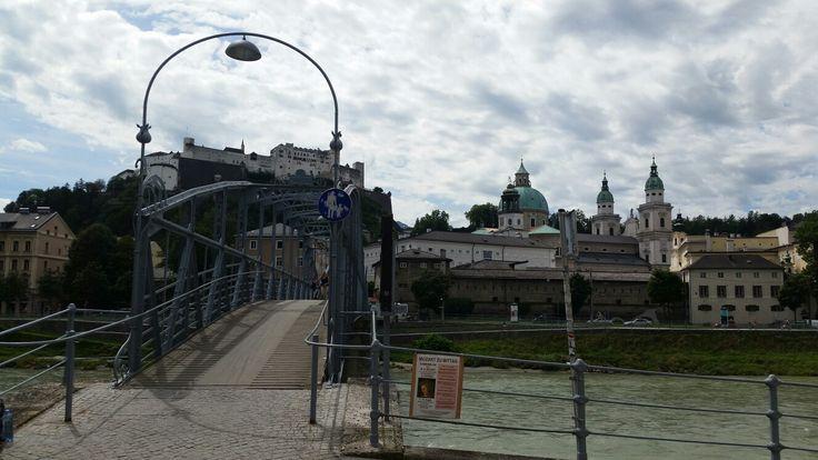 Bridge across the Salzach River, Salzburg, Austria