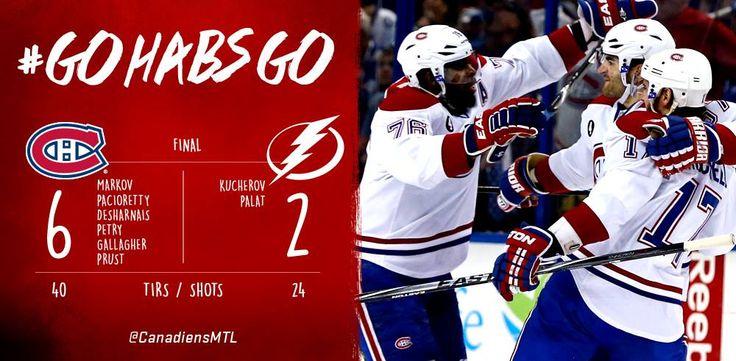 Match#4 Victoire étincelante du Canadiens qui évitent l'élimination. 3-1 TBY dans la série.