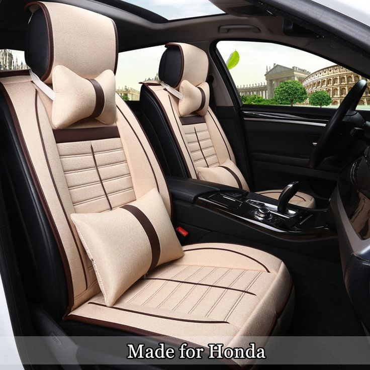 Cotton Linen Breathable Seat Cover for Honda Jade Civic Greiz Spirior XRV CRV Elysion 5 Seat Protector Cozy Seat Cushioin 150u