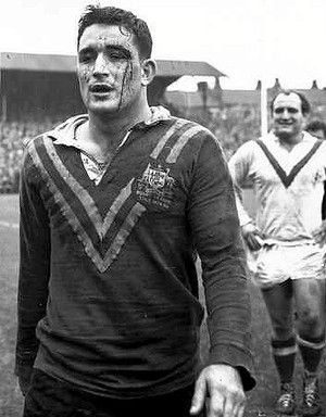 Ian Walsh following a Test match on the Kangaroos 1959-60 tour of Great Britain.