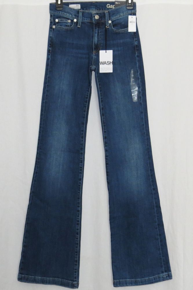 "GAP 1969 Jeans 24R Tall Womens 0 NEW NWT Authentic Stretch Flare 0R LONG 0L 0T #GAP #Flare BRAND NEW pair of womens jeans by GAP, size 24R with a long/tall 35"" inseam from the Fall of 2015 line. They are ""1969"" jeans in the ""Authentic Low Stretch Flare"" fit with a 5 pocket style"