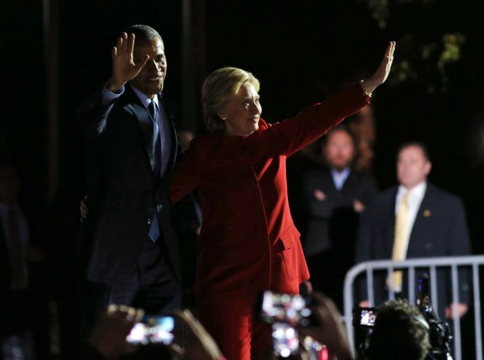Trump Supporters Demand That Barack Obama And Hillary Clinton Be Jailed