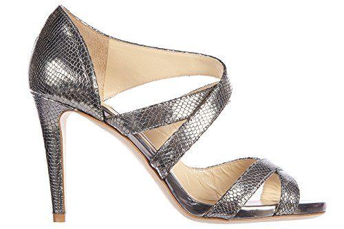 Jimmy Choo Damen Leder Sandalen mit Absatz Sandaletten valance steel Silber - http://on-line-kaufen.de/jimmy-choo/jimmy-choo-damen-leder-sandalen-mit-absatz-steel