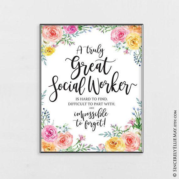 Social Worker Appreciation Quote Gift Wall Art Printable Etsy Teacher Wall Art Gift Wall Art Gift Teacher Wall Art