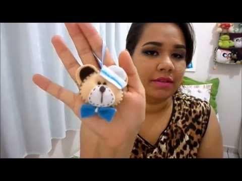 DIY:: Lembrancinha ursinho em Feltro - YouTube