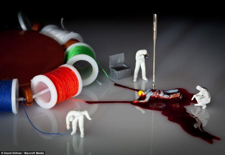 'Dexter Season 9' recreates a bloody murder scene from artist David Gulliver's favourite crime series