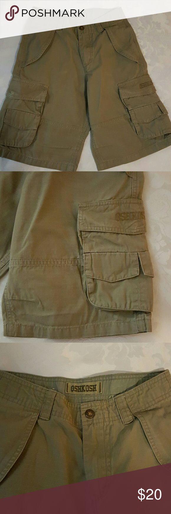 Boys cargo shorts Dark tan shorts Osh Kosh Bottoms Shorts