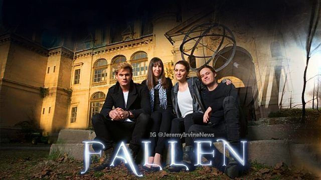 New picture of the #FallenMovie cast and Lauren Kate at #SchossbergerCastle, Tura, Hungary (2014). ❤ #JeremyIrvine #LaurenKate #AddisonTimlin #HarrisonGilbertson #Fallen