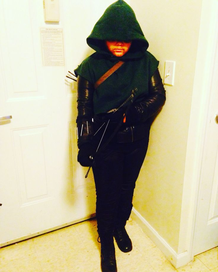 Green Arrow DIY Costume for Halloween... How to make a green arrow costume from things you have at home