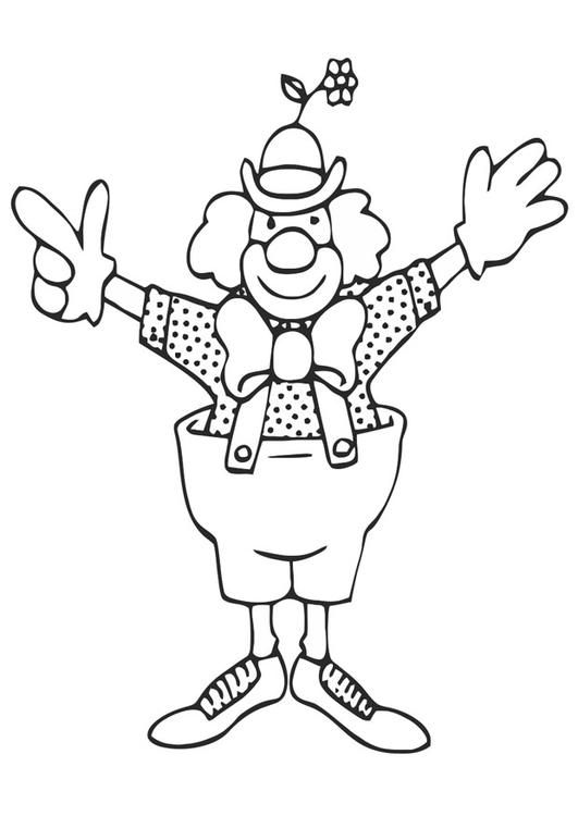 malvorlage clown bilder für schule und unterricht clown