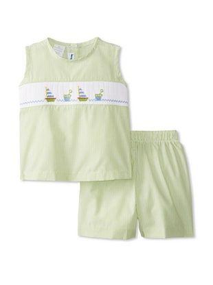 63% OFF Viva La Fete Kid's Sailboats Short Set (Green)