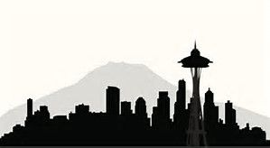 Image result for seattle skyline silhouette
