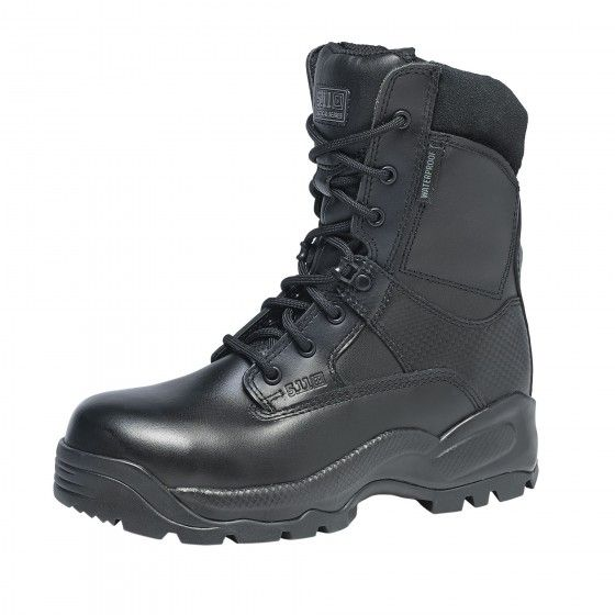 """5.11 Women's A.T.A.C. 8"""" Shield ASTM Boots  Designed to provide complete protection and unmatched performance while meeting or exceeding critical ordinances, the 8"""" Women's Shield Boot features a composite safety toe, a puncture resistant midsole board, and an integrated bloodborne pathogen resistant membrane for complete compliance with ASTM F2413-05 M I/75 C/75 EH PR standards on footwear protection."""