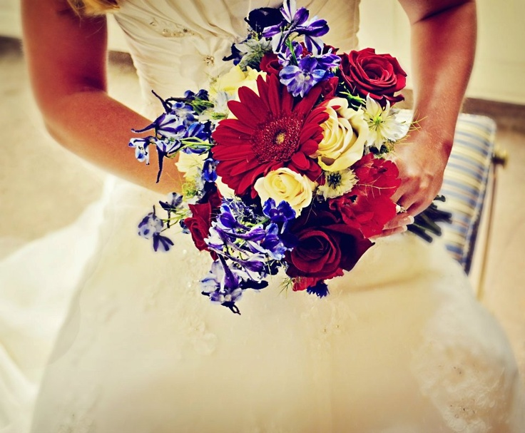 Red white and blue wedding beautiful red white and blue wedding bridal bouquets red and blue red white and blue wedding bouquet xtinas ho down with red white and blue wedding mightylinksfo