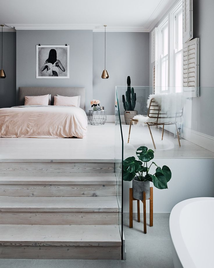The starting point for styling your bedroom (or one for a client), is to decide on the overall mood you'd like to convey. This doesn't necessarily mean 'the style'; but rather how you want the room to affect your mood.  Learn more bedroom tips on IDI Tutor Sophie Seeger's blog!  Seeger By Design  www.seegerbydesign.com/musings-blog/2017-bedroom-styling