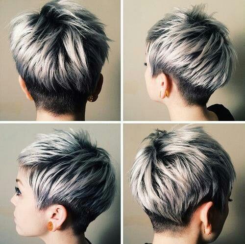Grey ombre pixie