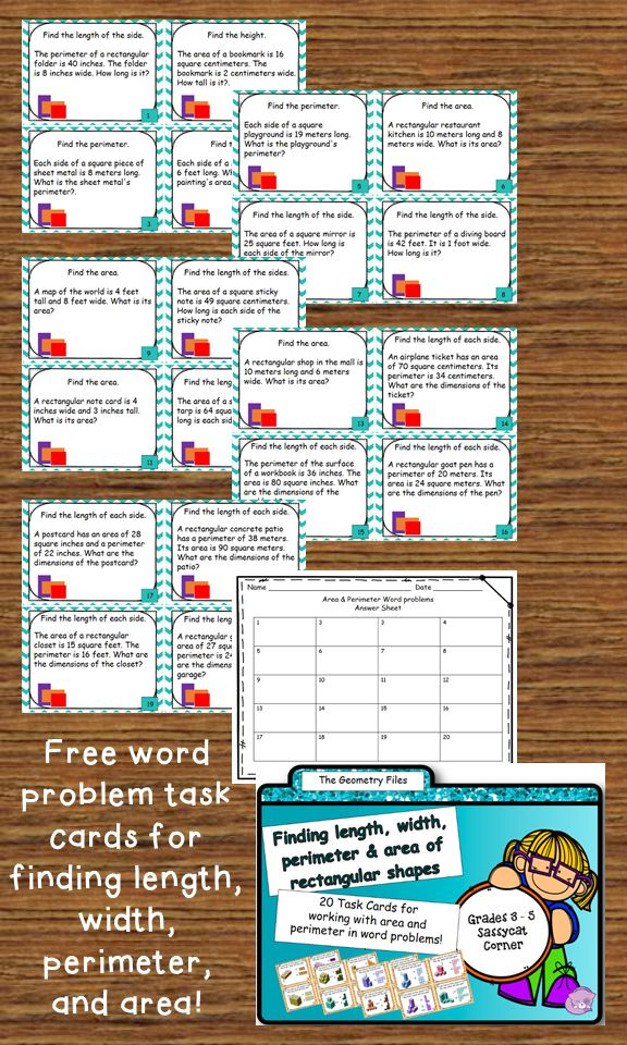 Best 25 area and perimeter games ideas on pinterest perimeter free geometry task cards for area and perimeter word problems ccuart Images