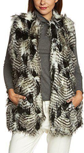 Pin for Later: Diese Fake Fur Jacken und Westen kann man mit gutem Gewissen tragen  Tom Tailor Denim Faux Fur Weste gemustert (45 €)