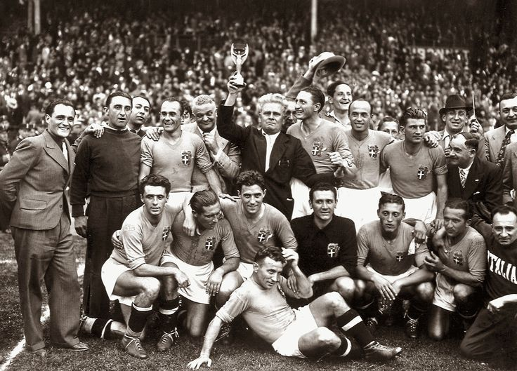 Italian team winner of the World Cup in 1938