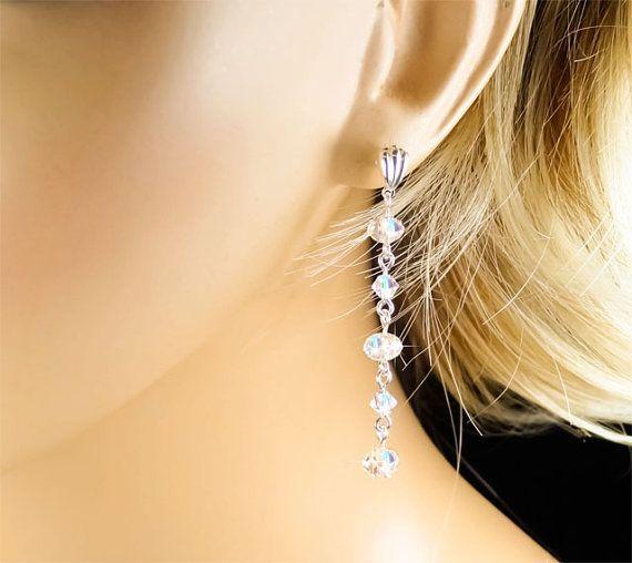 Crystal Bridal Earrings Wedding Earrings by PixieDustFineries, $24.00