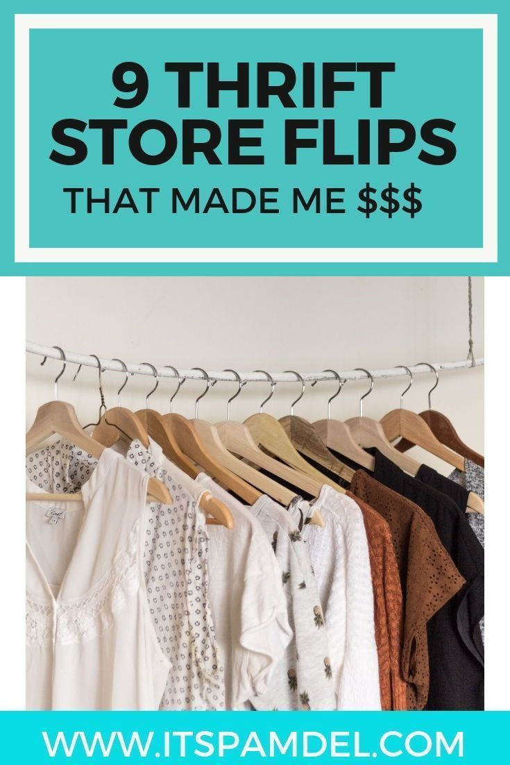 9 Items I Flipped For A Profit Thrifting Thrift Store Finds